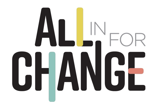 all in for change logo